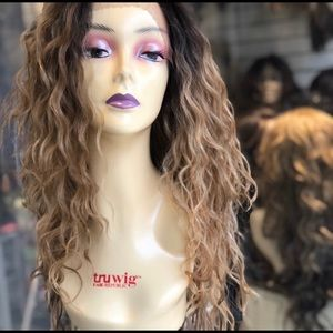 Accessories - long curly wig sale ombré brown blonde hair blende